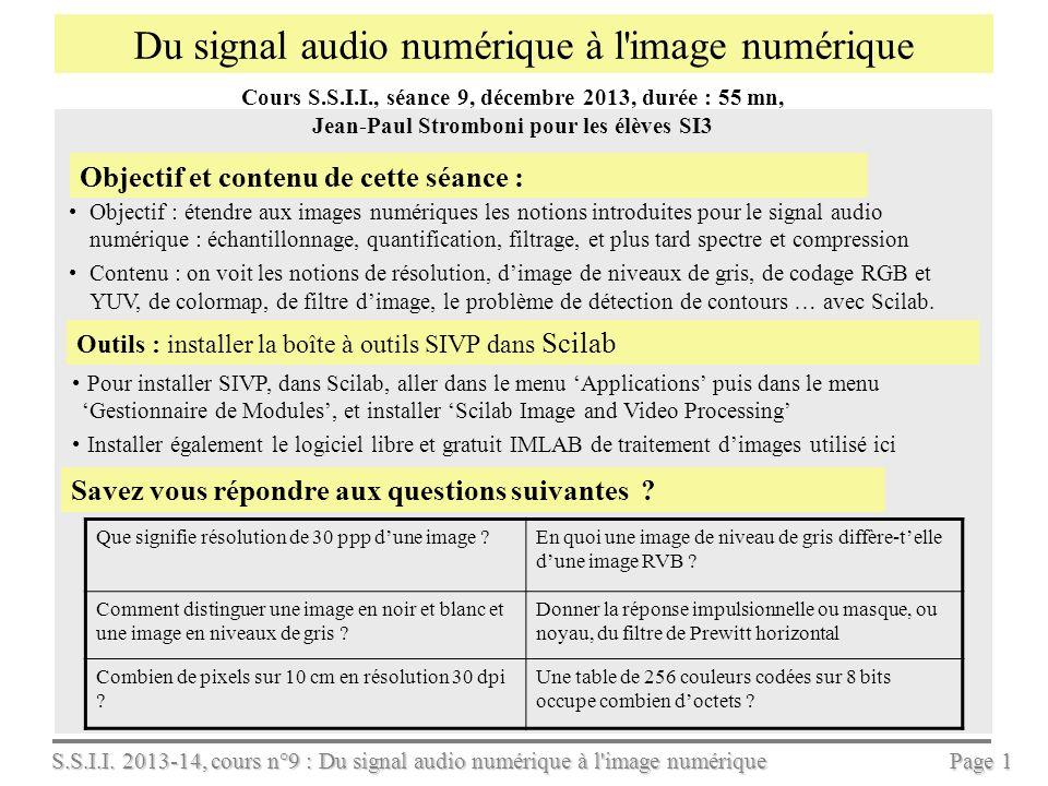 Du signal audio numérique à l image numérique