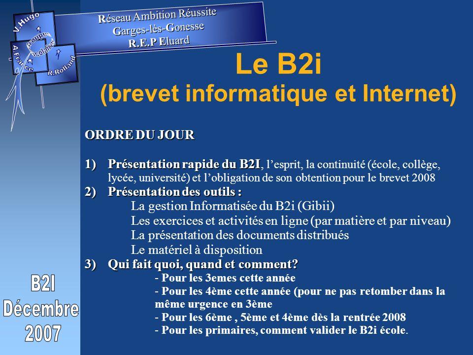 Le B2i (brevet informatique et Internet)