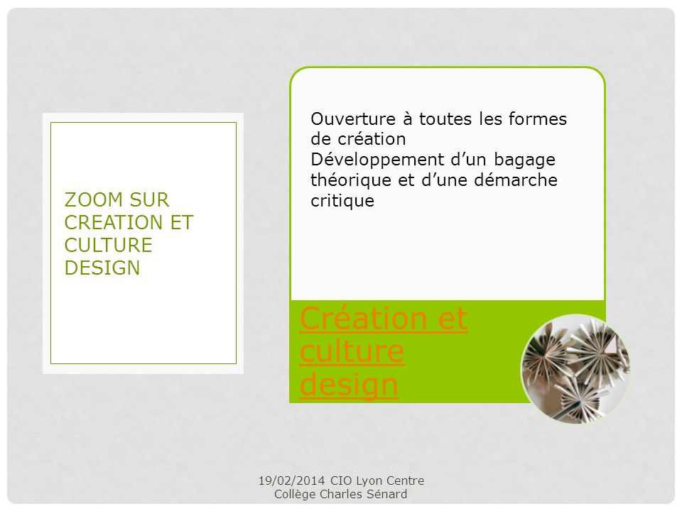 Zoom sur CREATION ET CULTURE DESIGN