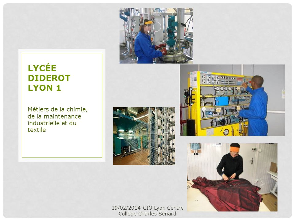 19/02/2014 CIO Lyon Centre Collège Charles Sénard