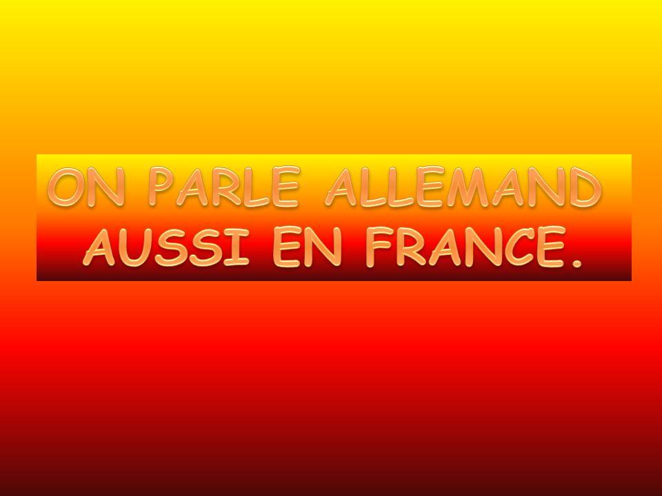 ON PARLE ALLEMAND AUSSI EN FRANCE.