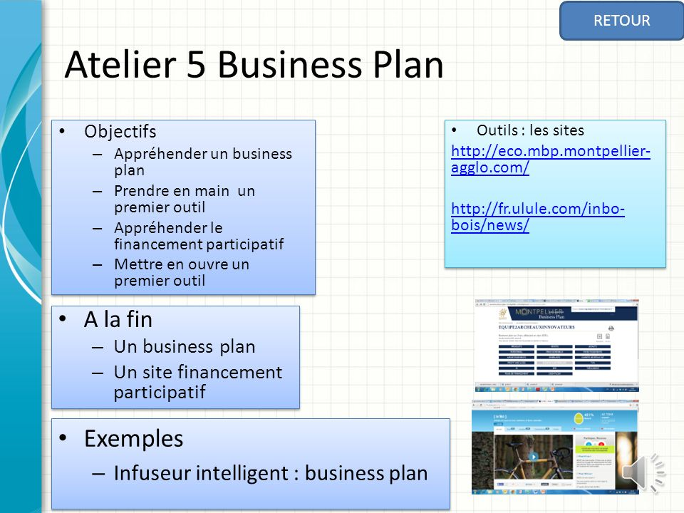 Atelier 5 Business Plan Exemples A la fin