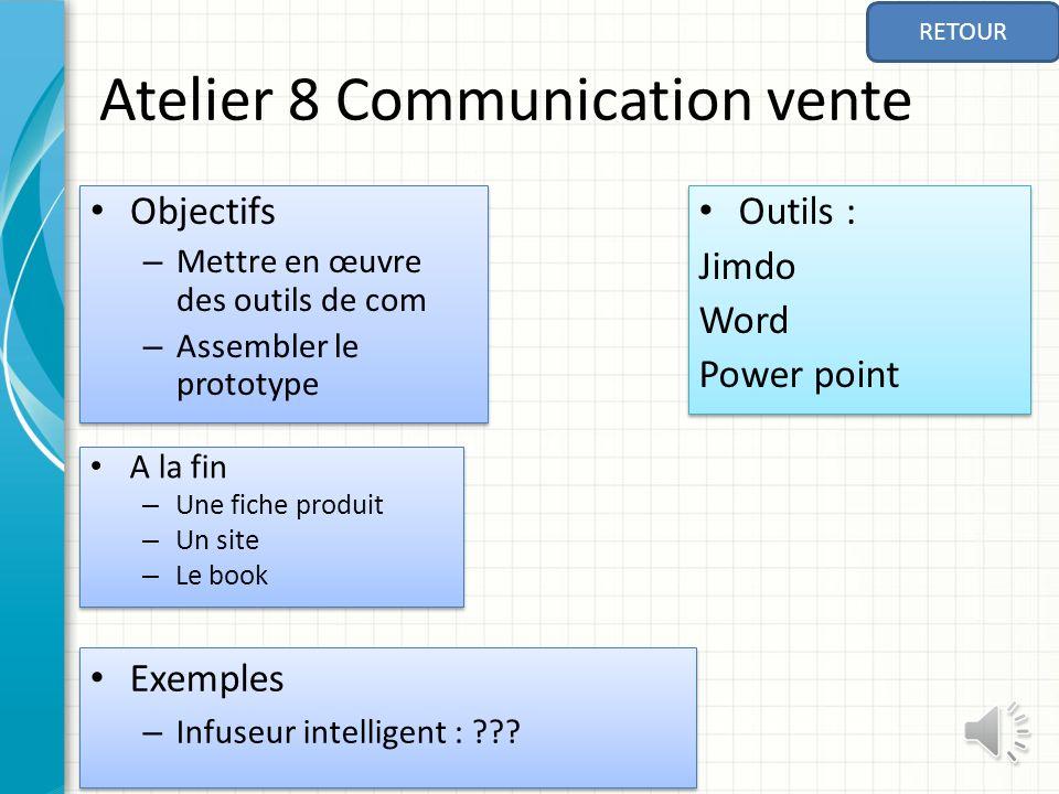 Atelier 8 Communication vente