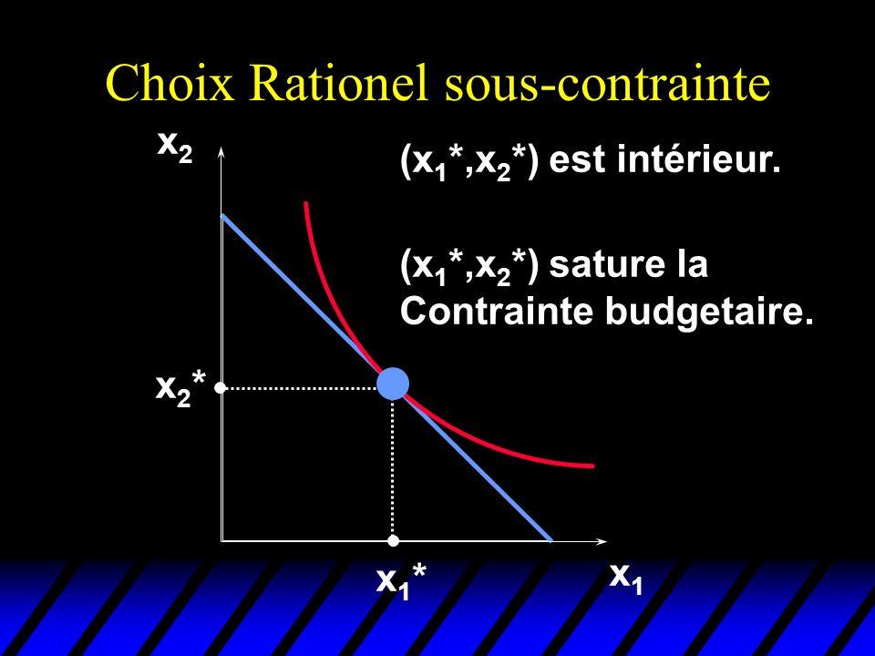 Choix Rationel sous-contrainte