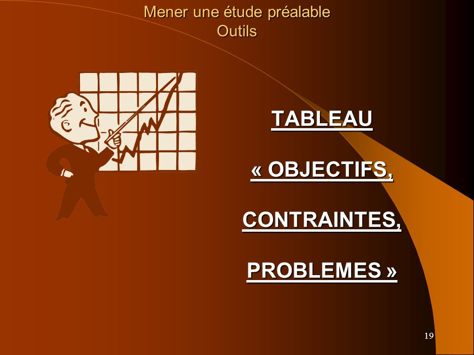TABLEAU « OBJECTIFS, CONTRAINTES, PROBLEMES »
