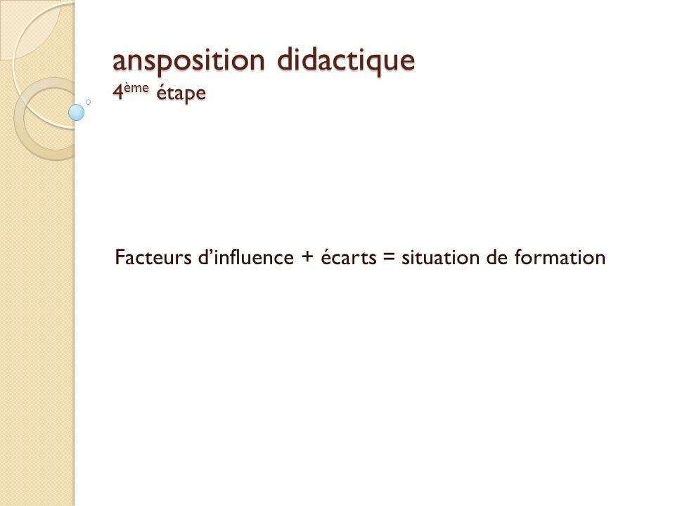ansposition didactique 4ème étape