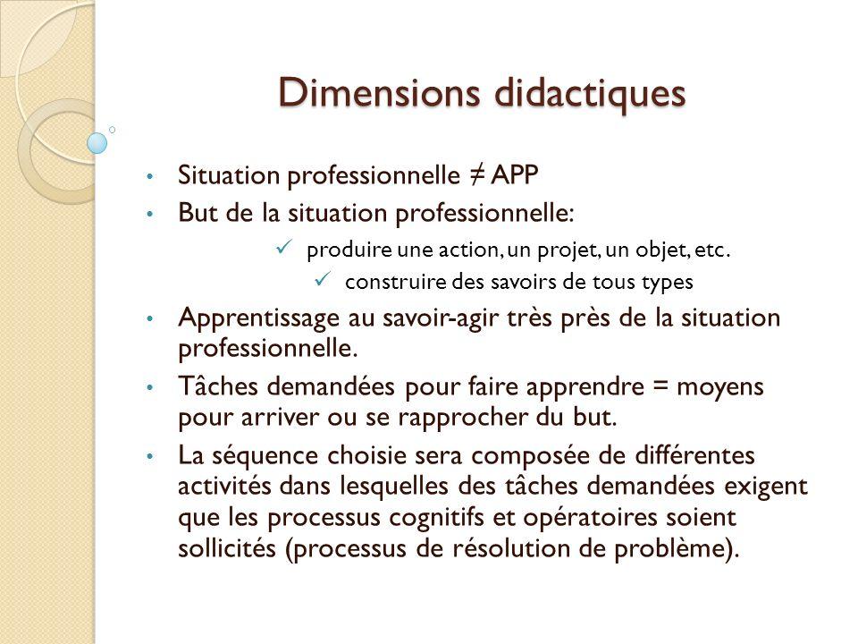 Dimensions didactiques
