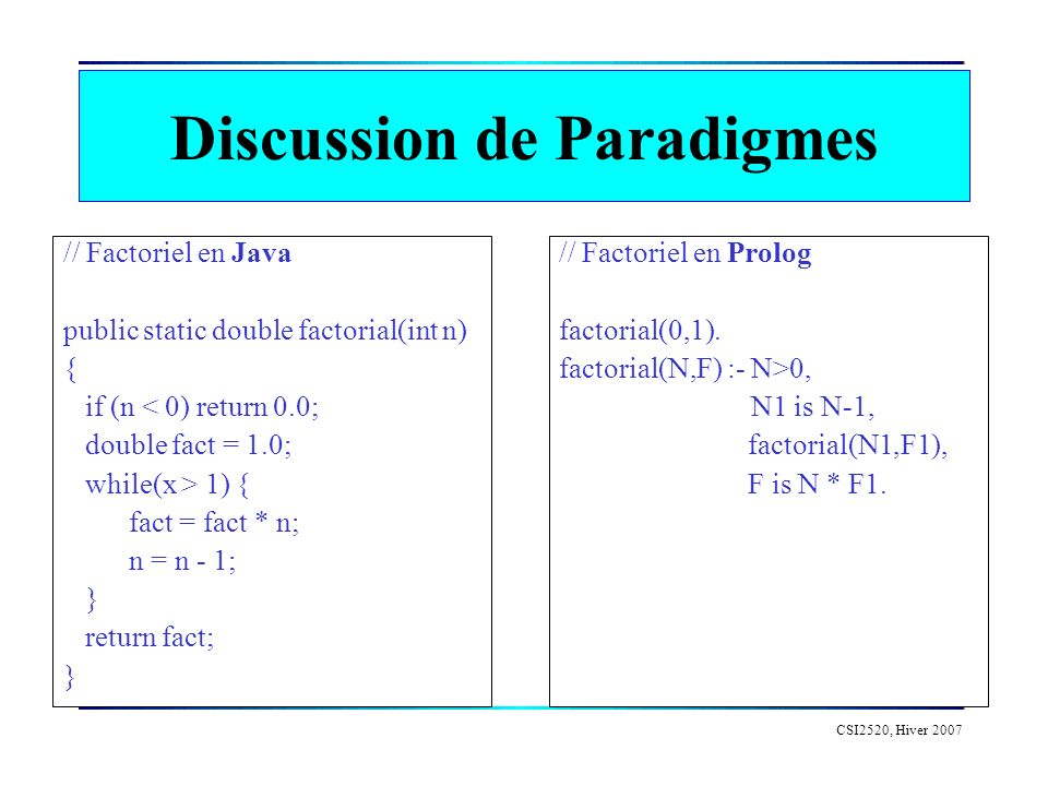 Discussion de Paradigmes