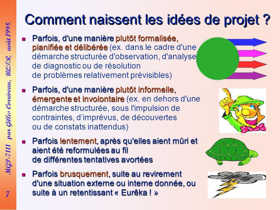 Comment naissent les idées de projet