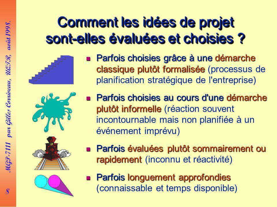 Comment les idées de projet sont-elles évaluées et choisies