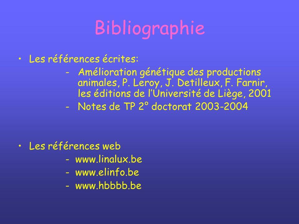 Bibliographie Les références écrites: