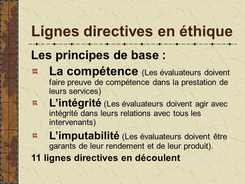 Lignes directives en éthique