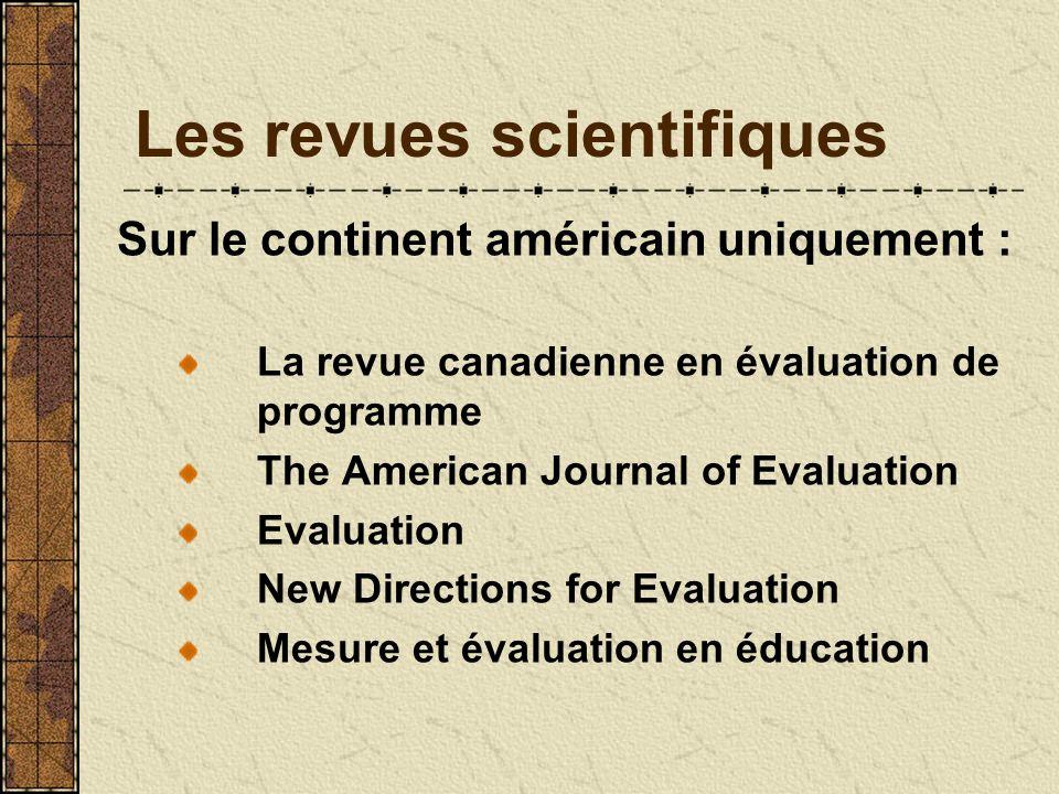 Les revues scientifiques