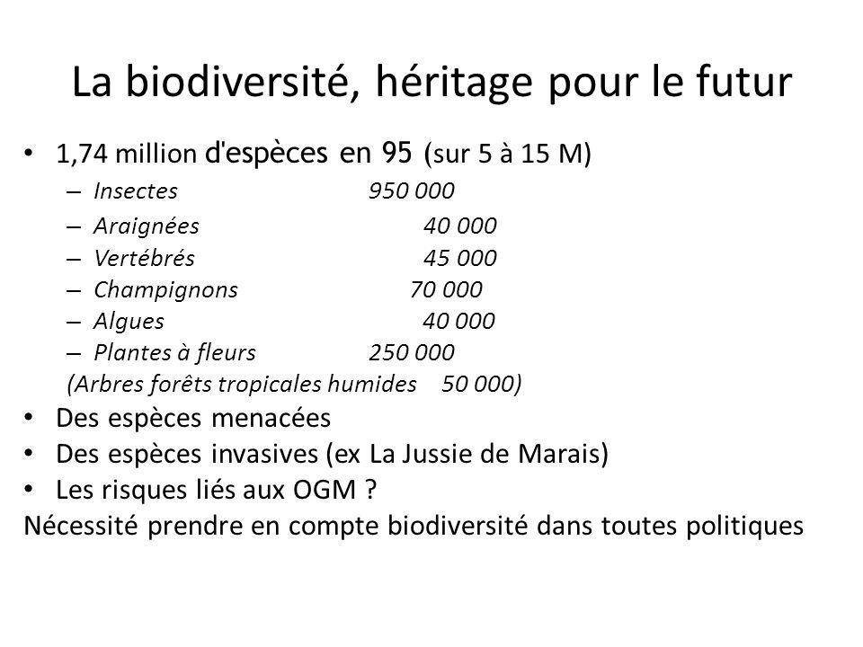 La biodiversité, héritage pour le futur