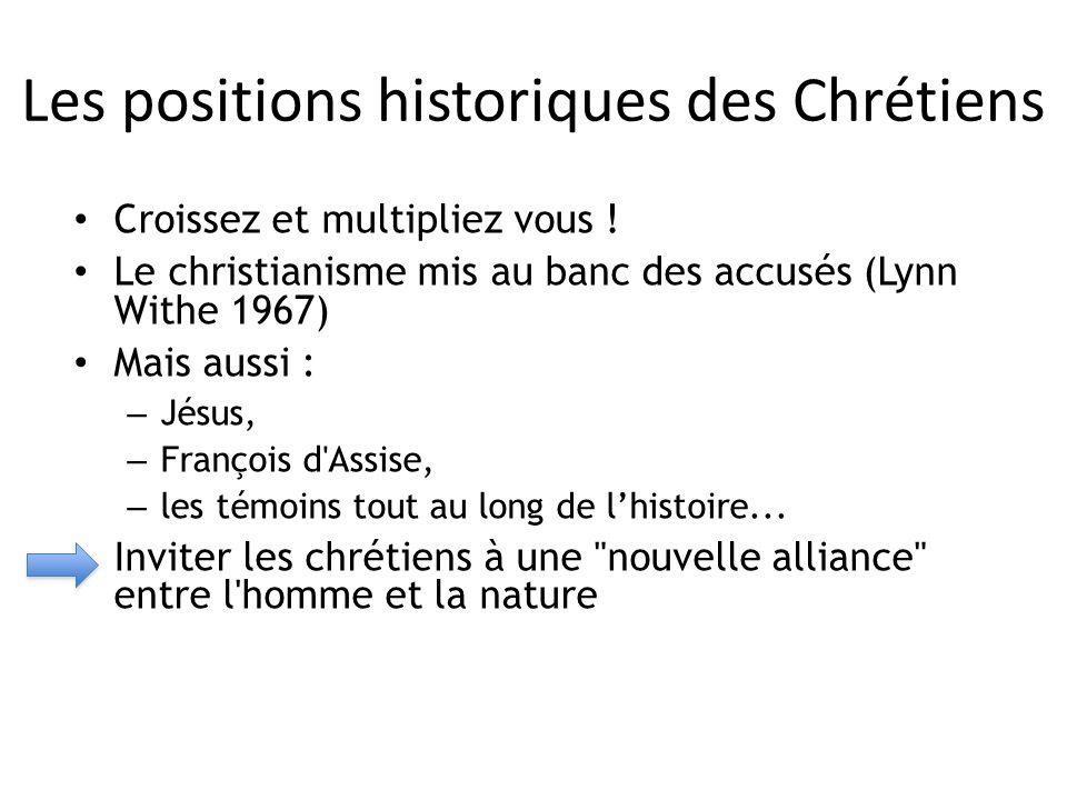 Les positions historiques des Chrétiens