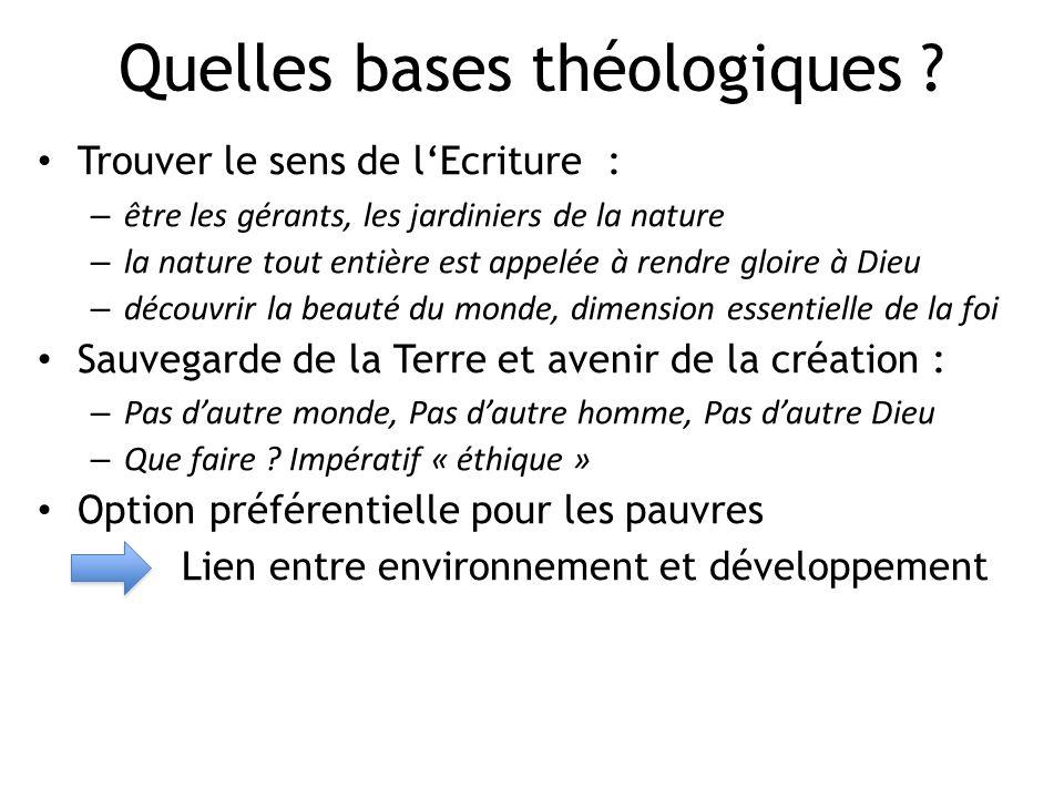 Quelles bases théologiques