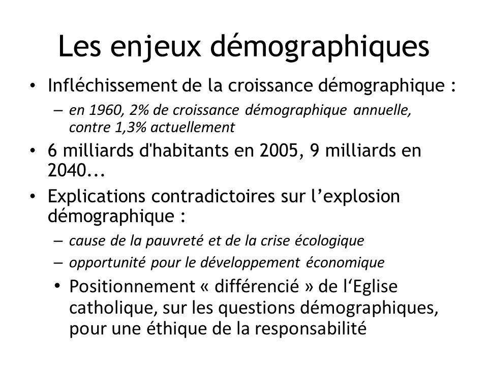 Les enjeux démographiques