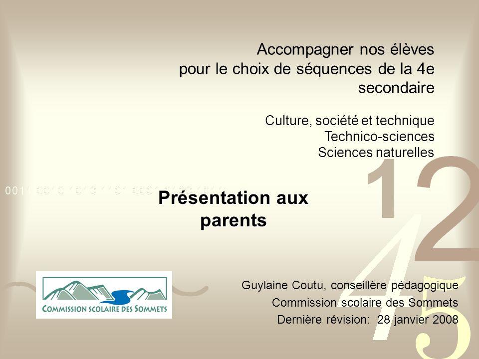 Présentation aux parents