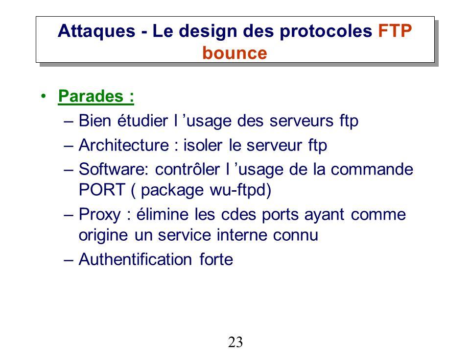 Attaques - Le design des protocoles FTP bounce