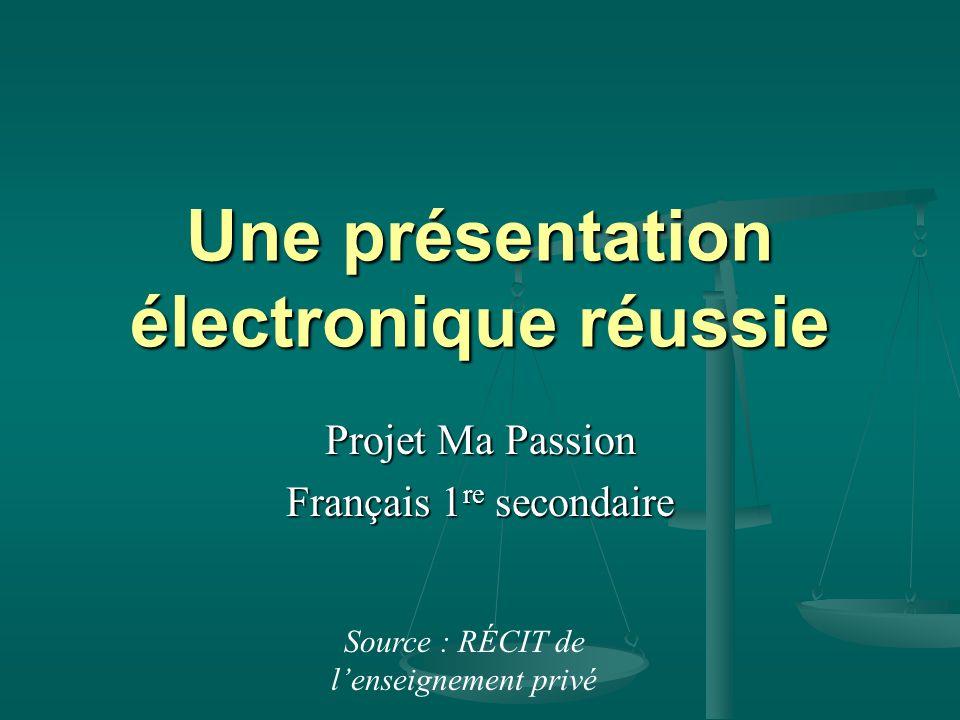 Une présentation électronique réussie