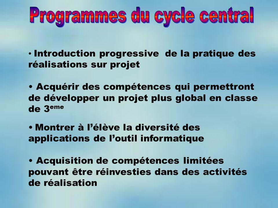 Programmes du cycle central
