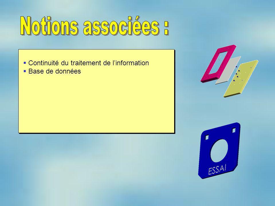 Notions associées : Continuité du traitement de l'information