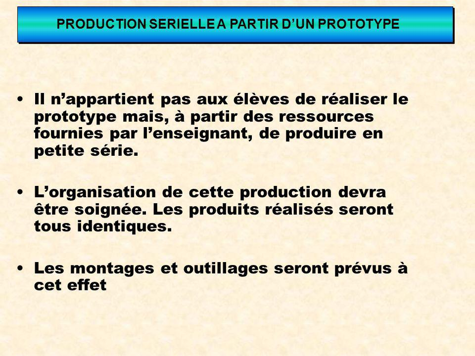 PRODUCTION SERIELLE A PARTIR D'UN PROTOTYPE