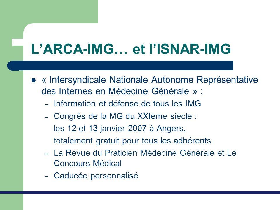 L'ARCA-IMG… et l'ISNAR-IMG