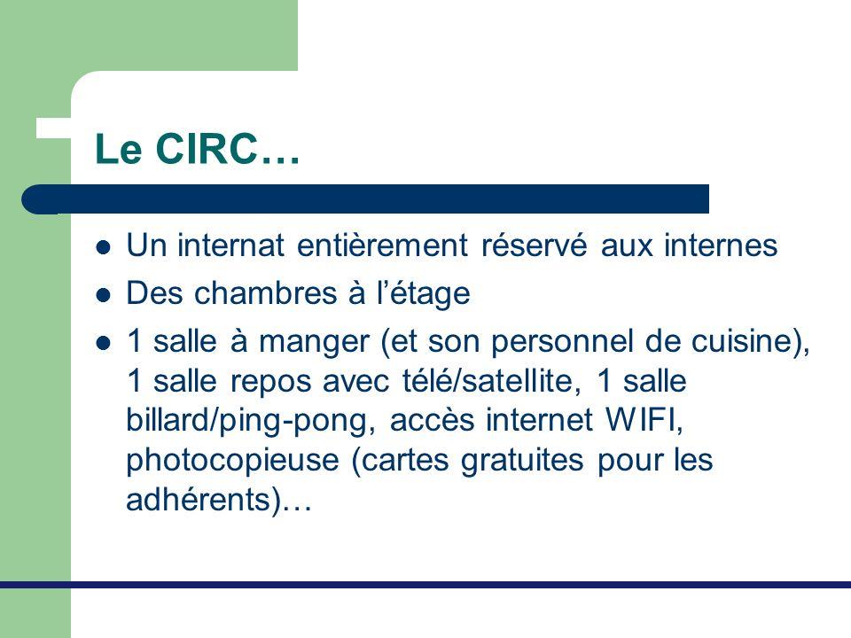 Le CIRC… Un internat entièrement réservé aux internes