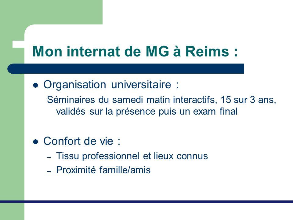 Mon internat de MG à Reims :