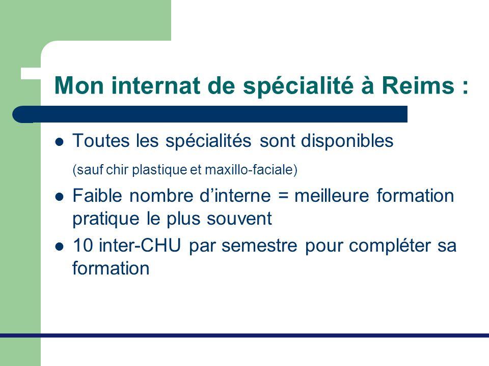 Mon internat de spécialité à Reims :