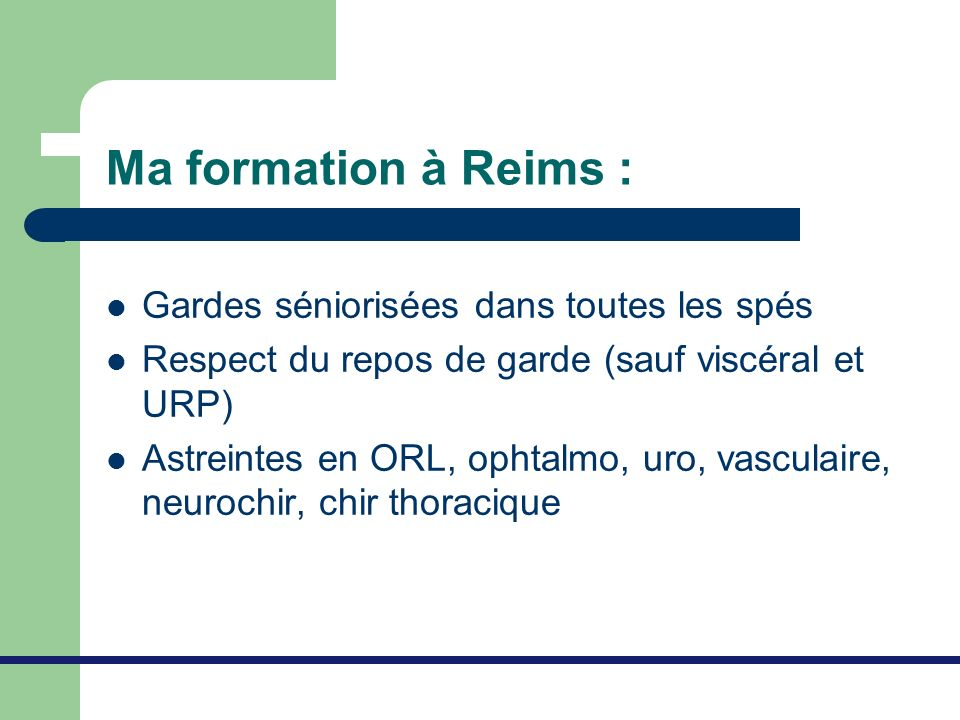 Ma formation à Reims : Gardes séniorisées dans toutes les spés