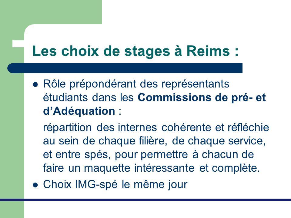 Les choix de stages à Reims :