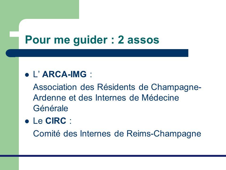 Pour me guider : 2 assos L' ARCA-IMG :