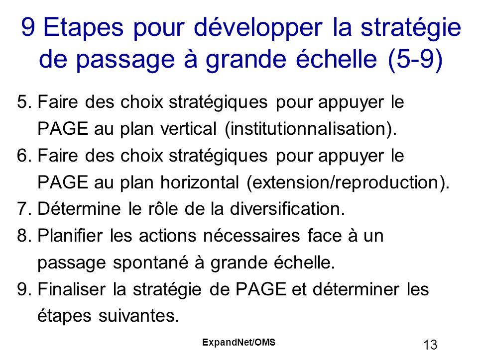 9 Etapes pour développer la stratégie de passage à grande échelle (5-9)