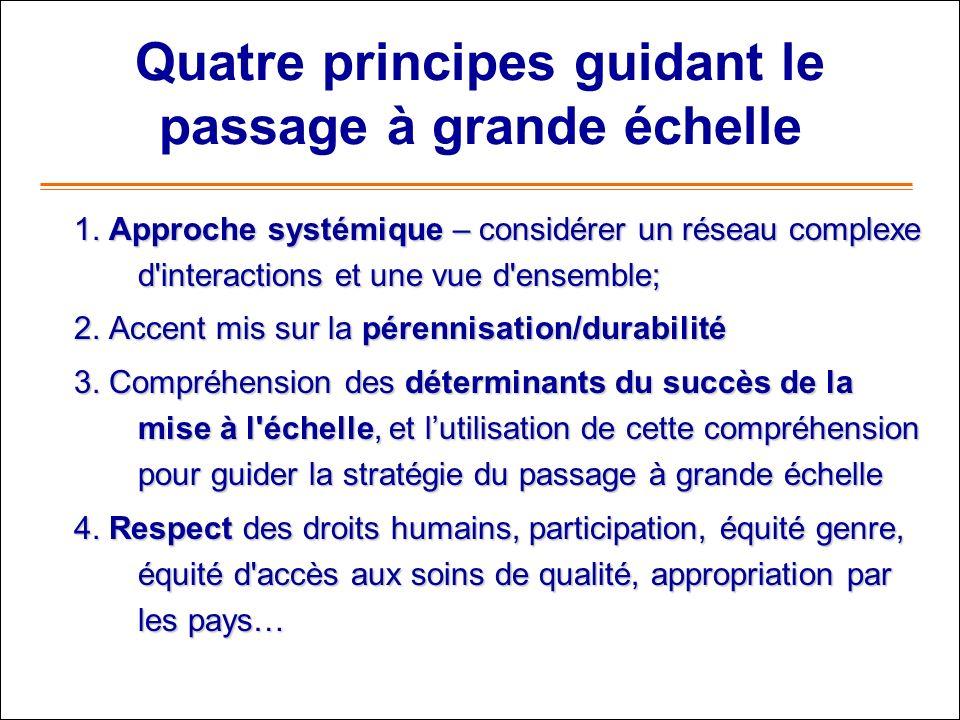 Quatre principes guidant le passage à grande échelle