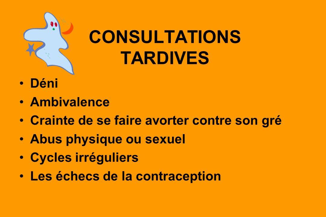 CONSULTATIONS TARDIVES