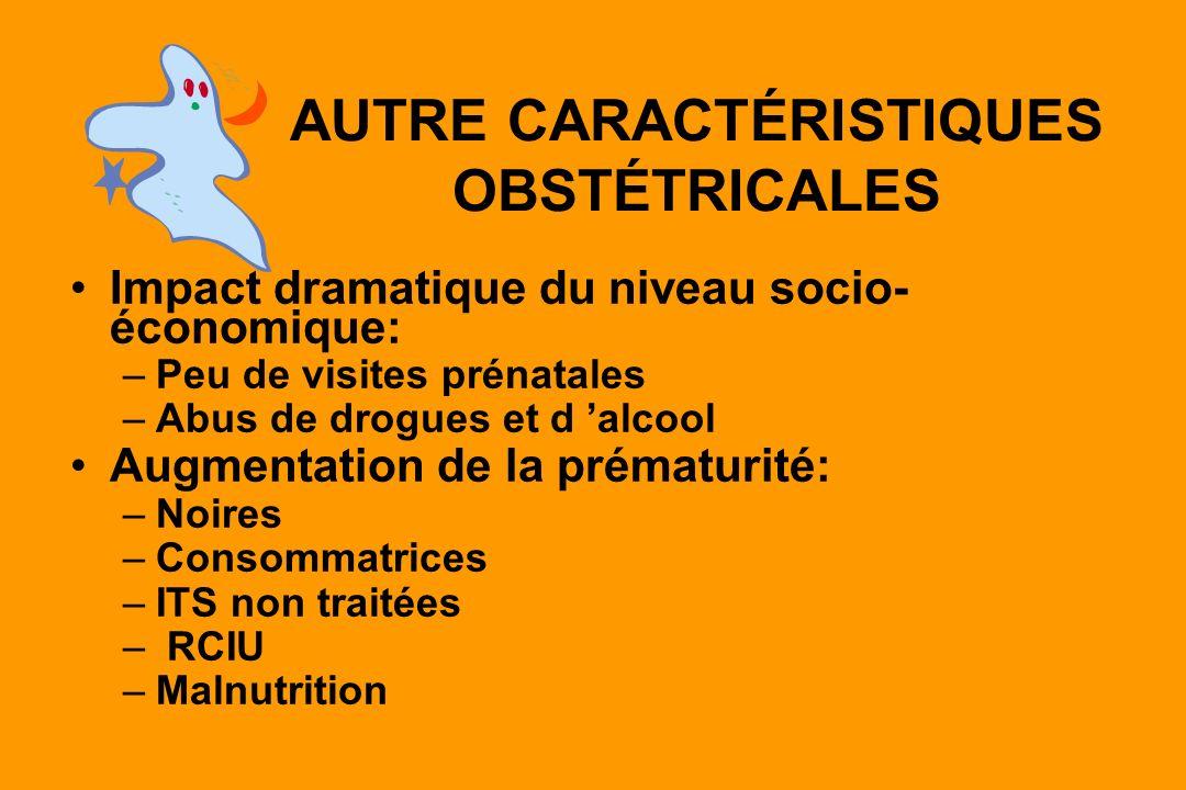 AUTRE CARACTÉRISTIQUES OBSTÉTRICALES