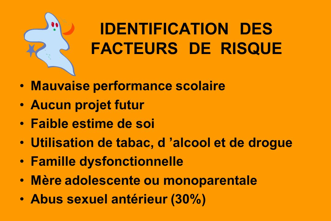 IDENTIFICATION DES FACTEURS DE RISQUE