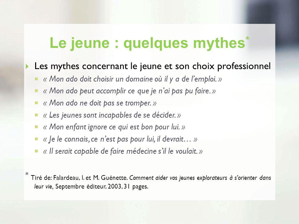Le jeune : quelques mythes*