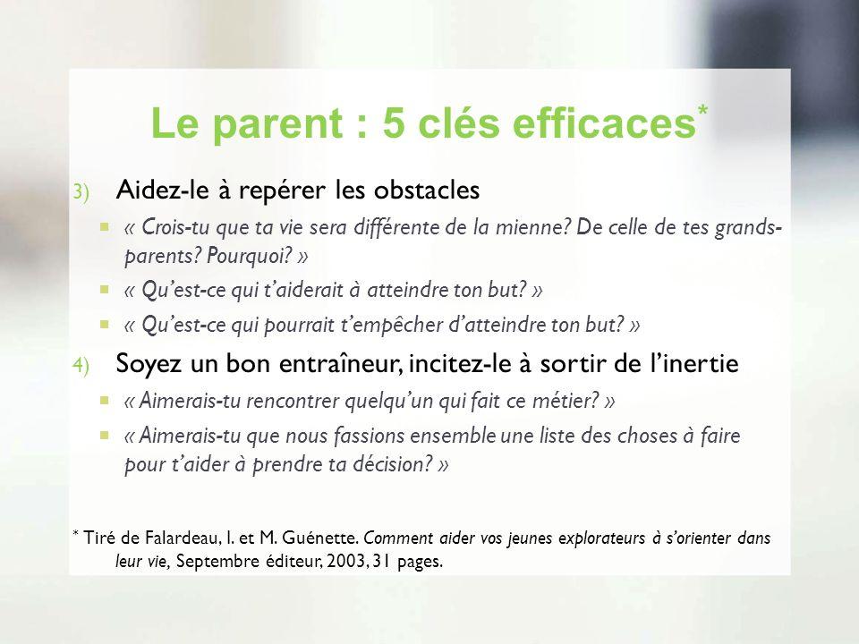Le parent : 5 clés efficaces*