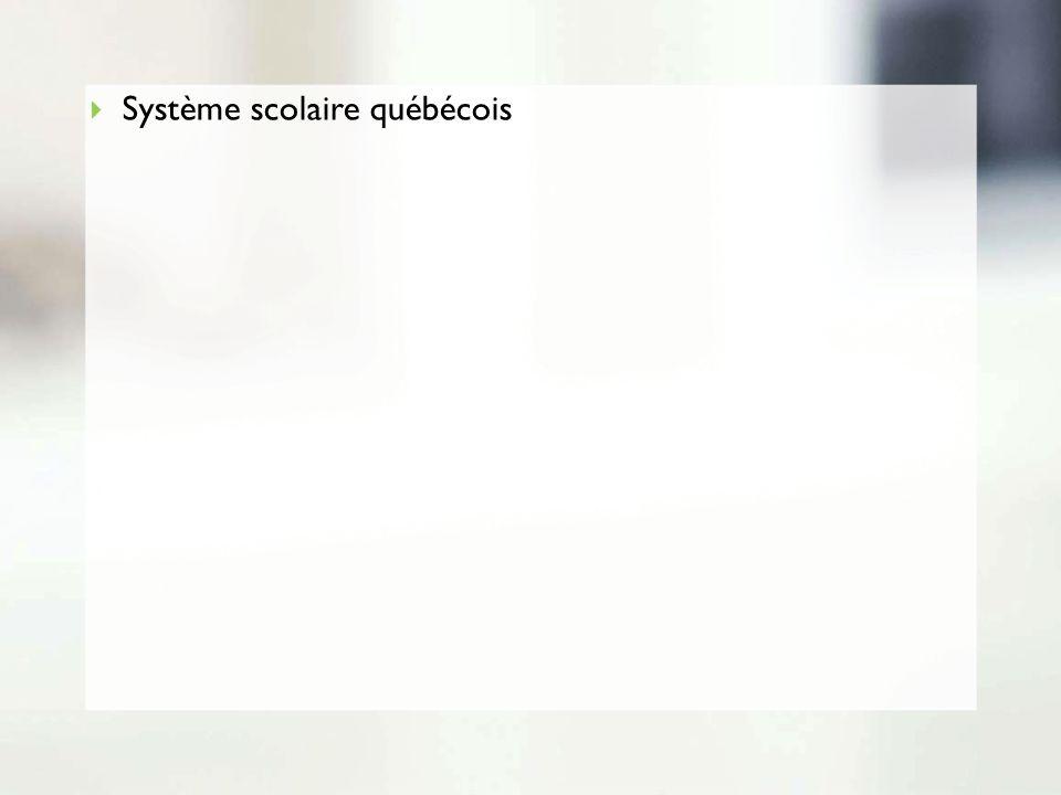 Système scolaire québécois