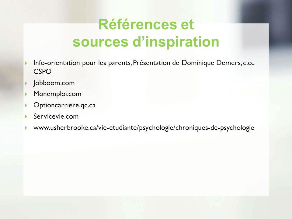 Références et sources d'inspiration