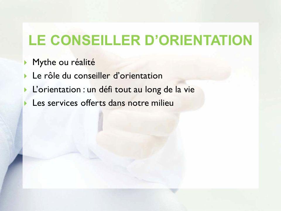 LE CONSEILLER D'ORIENTATION