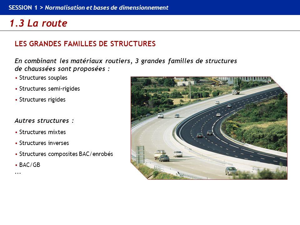 LES GRANDES FAMILLES DE STRUCTURES