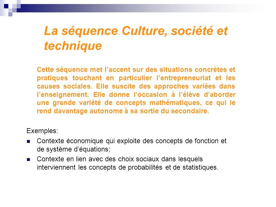 La séquence Culture, société et technique