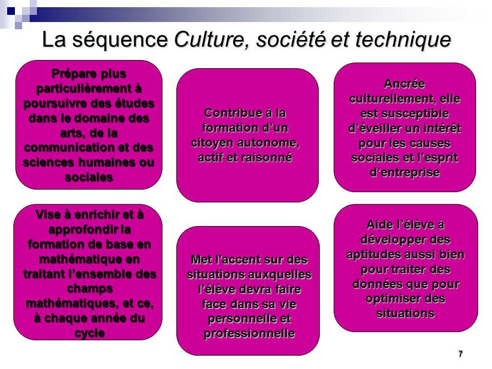 La séquence Culture, société et technique …