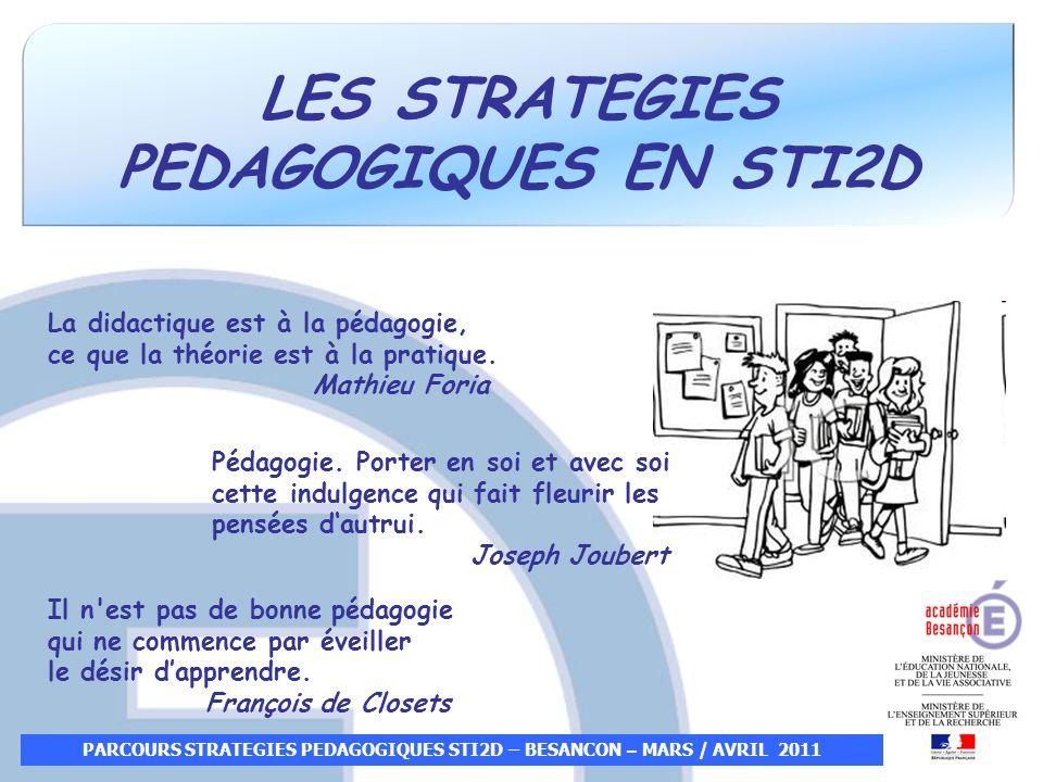 LES STRATEGIES PEDAGOGIQUES EN STI2D