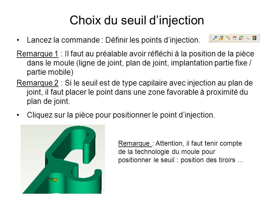 Choix du seuil d'injection