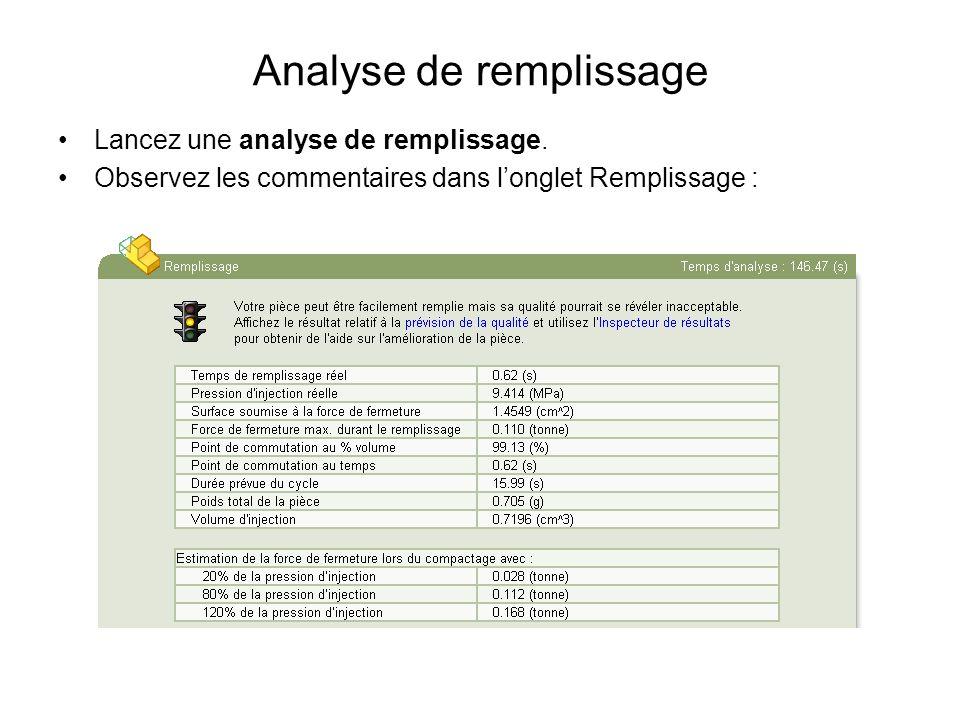 Analyse de remplissage